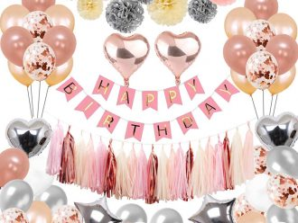Украса за рожден ден розово злато