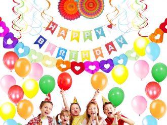 Честит Рожден Ден Цветни Партита Декорации за Възрастни и Деца