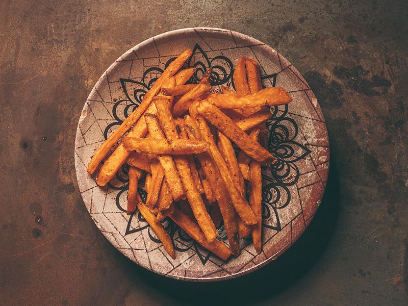 Сладък картоф с пикантна подправка