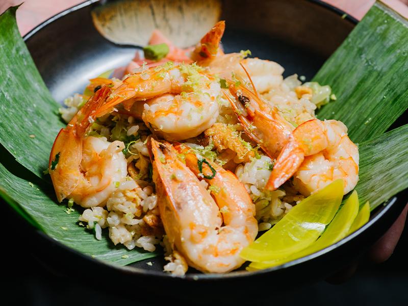 Пържен ориз Харука със скариди